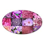 Pink Flowers Photography Coll Sticker (Oval 10 pk)