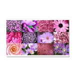 Pink Flowers Photography Coll Car Magnet 20 x 12