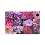 Pink Flowers Photography Coll Rectangle Magnet