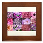 Pink Flowers Photography Coll Framed Tile