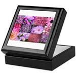 Pink Flowers Photography Coll Keepsake Box