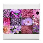 Pink Flowers Photography Coll Tile Coaster