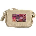 Pink Flowers Photography Coll Messenger Bag
