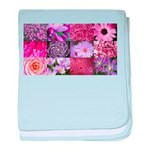 Pink Flowers Photography Coll baby blanket
