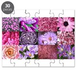 Pink Flowers Photography Coll Puzzle