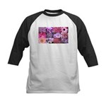 Pink Flowers Photography Coll Kids Baseball Jersey
