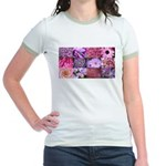 Pink Flowers Photography Coll Jr. Ringer T-Shirt