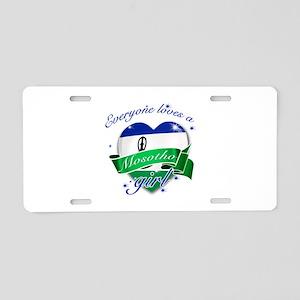 I heart Mosotho Designs Aluminum License Plate