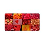 Stylish Red Photo Collage Aluminum License Plate