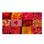 Stylish Red Photo Collage Postcards (Package of 8)