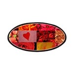 Stylish Red Photo Collage Patches