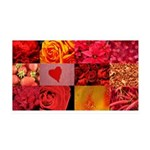 Stylish Red Photo Collage 38.5 x 24.5 Wall Peel