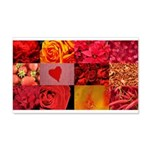 Stylish Red Photo Collage 22x14 Wall Peel