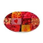 Stylish Red Photo Collage 38.5 x 24.5 Oval Wall Pe
