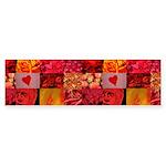 Stylish Red Photo Collage Sticker (Bumper 10 pk)