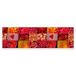 Stylish Red Photo Collage Sticker (Bumper)