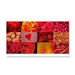 Stylish Red Photo Collage Car Magnet 20 x 12