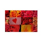 Stylish Red Photo Collage Rectangle Magnet