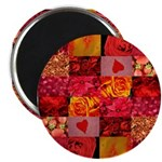 Stylish Red Photo Collage Magnet