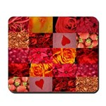 Stylish Red Photo Collage Mousepad