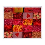 Stylish Red Photo Collage Throw Blanket