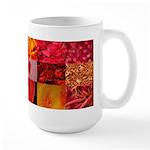 Stylish Red Photo Collage Large Mug