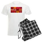 Stylish Red Photo Collage Men's Light Pajamas