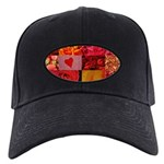 Stylish Red Photo Collage Black Cap