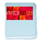 Stylish Red Photo Collage baby blanket