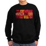 Stylish Red Photo Collage Sweatshirt (dark)