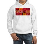 Stylish Red Photo Collage Hooded Sweatshirt