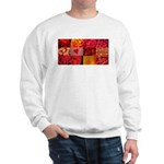 Stylish Red Photo Collage Sweatshirt