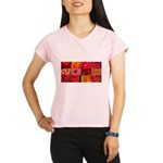 Stylish Red Photo Collage Performance Dry T-Shirt
