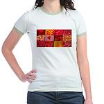 Stylish Red Photo Collage Jr. Ringer T-Shirt
