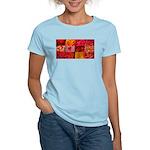 Stylish Red Photo Collage Women's Light T-Shirt