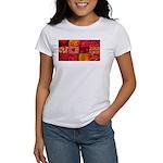 Stylish Red Photo Collage Women's T-Shirt