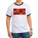 Stylish Red Photo Collage Ringer T