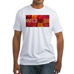 Stylish Red Photo Collage Fitted T-Shirt