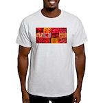 Stylish Red Photo Collage Light T-Shirt