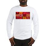 Stylish Red Photo Collage Long Sleeve T-Shirt