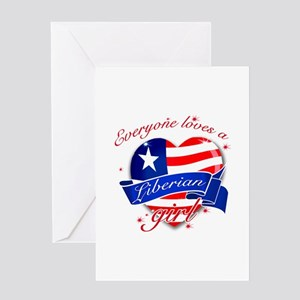 I heart Liberian Designs Greeting Card