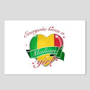 I heart Malian Designs Postcards (Package of 8)