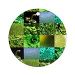 Green Photography Collage Ornament (Round)
