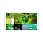 Green Photography Collage Aluminum License Plate