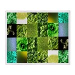 Green Photography Collage Throw Blanket