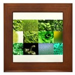 Green Photography Collage Framed Tile