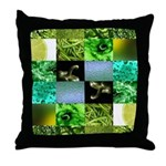 Green Photography Collage Throw Pillow