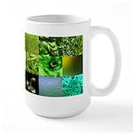 Green Photography Collage Large Mug