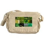 Green Photography Collage Messenger Bag