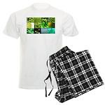 Green Photography Collage Men's Light Pajamas